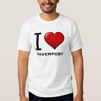 I LOVE DAVENPORT,IA - IOWA SHIRT