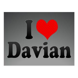 I love Davian Postcard