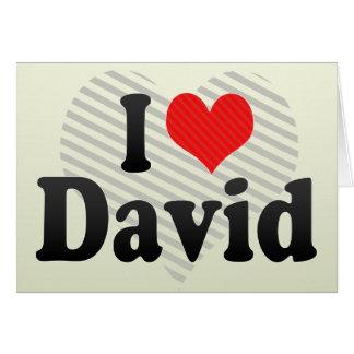 I Love David Card