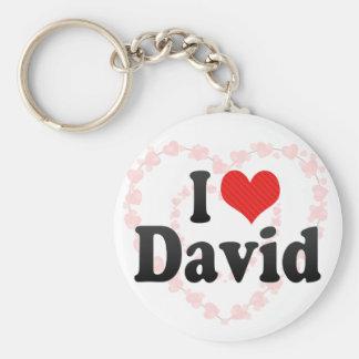 I Love David Keychain