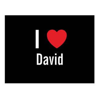 I love David Postcard