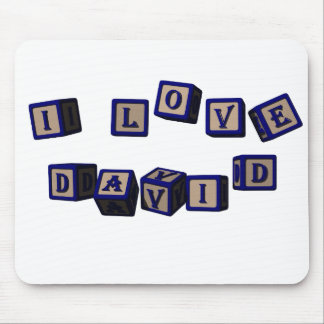 I love David toy blocks in blue Mouse Pad