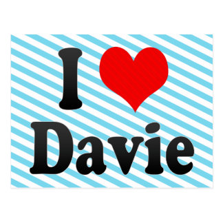 I Love Davie, United States Postcard