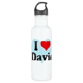 I Love Davie, United States Stainless Steel Water Bottle