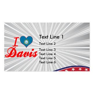 I Love Davis, South Dakota Double-Sided Standard Business Cards (Pack Of 100)