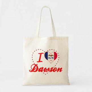 I Love Dawson, Iowa Canvas Bag