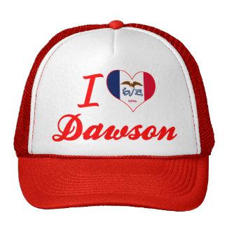 I Love Dawson, Iowa Trucker Hats