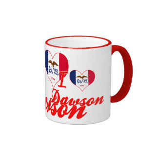 I Love Dawson, Iowa Mugs