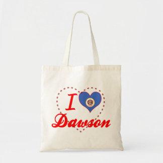 I Love Dawson, Minnesota Canvas Bag