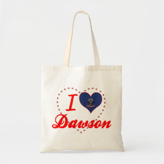 I Love Dawson, North Dakota Tote Bag