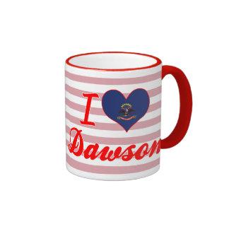 I Love Dawson, North Dakota Mugs