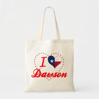 I Love Dawson, Texas Tote Bags
