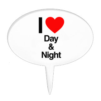 i love day and night cake topper