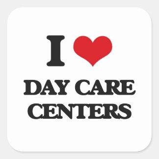 I love Day Care Centers Square Sticker