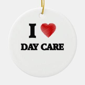 I love Day Care Ceramic Ornament