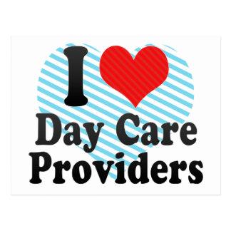 I Love Day Care Providers Postcard