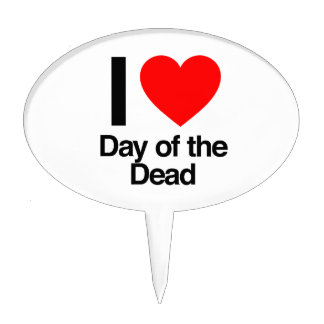 i love day of the dead cake toppers