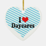 I Love Daycares Christmas Tree Ornaments