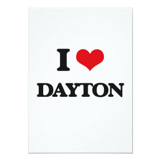 I Love Dayton 5x7 Paper Invitation Card