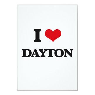 I Love Dayton 3.5x5 Paper Invitation Card