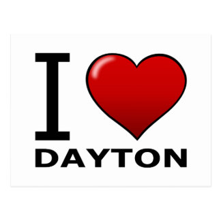 I LOVE DAYTON, OH - OHIO POSTCARD