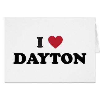 I Love Dayton Ohio Card