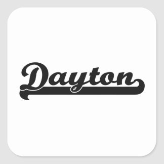 I love Dayton Ohio Classic Design Square Sticker