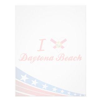I Love Daytona Beach, Florida Letterhead Template