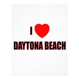 I Love Daytona Beach Letterhead Template