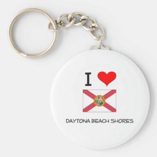 I Love DAYTONA BEACH SHORES Florida Basic Round Button Keychain