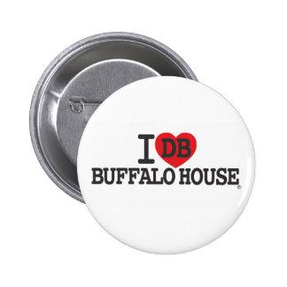 I LOVE DB BUFFALO HOUSE BUTTON