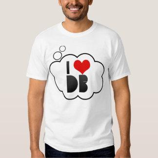 I Love DB T Shirt