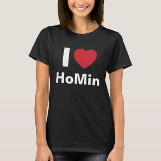 I Love DBSK HoMin T Shirt (black)