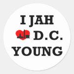 I Love DC Classic Round Sticker