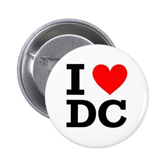 I Love DC Design Pinback Button