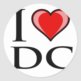 I Love DC - District of Columbia Classic Round Sticker