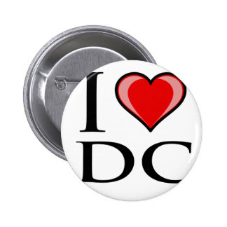 I Love DC - District of Columbia Pinback Buttons