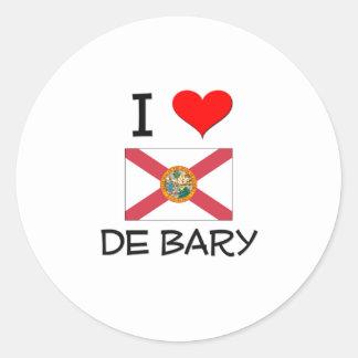 I Love DE BARY Florida Stickers