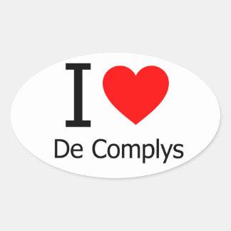 I Love De Complys Stickers