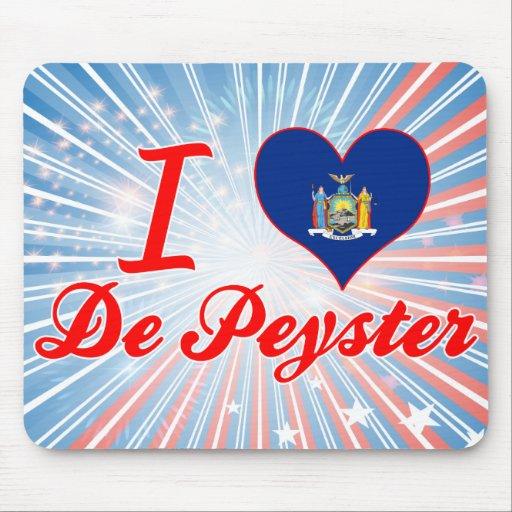 I Love De Peyster, Nueva York Mousepad
