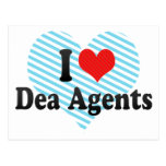 I Love Dea Agents Post Cards