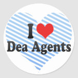 I Love Dea Agents Round Stickers