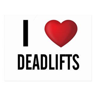 I Love Dead Lifts Gym Postcard