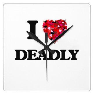 I love Deadly Square Wallclock