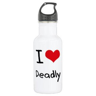 I Love Deadly 18oz Water Bottle