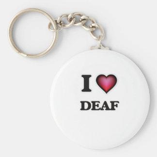 I love Deaf Keychain