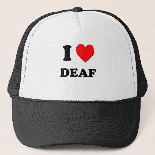 I Love Deaf Trucker Hat