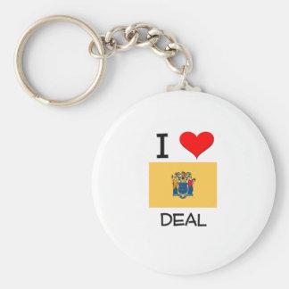 I Love Deal New Jersey Basic Round Button Keychain