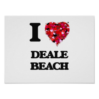 I love Deale Beach Maryland Poster