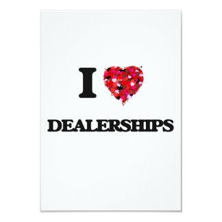 I love Dealerships 3.5x5 Paper Invitation Card